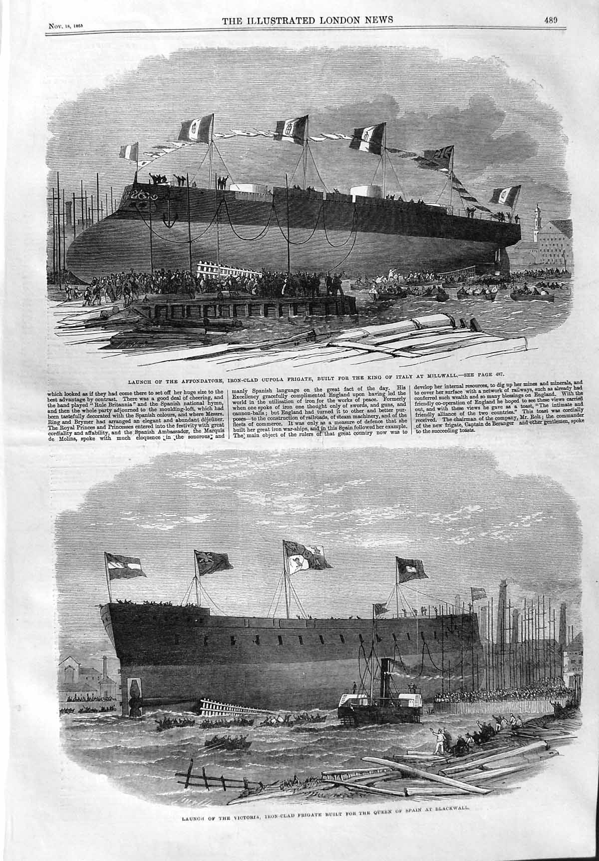 1865 Launch Affondatore Ship Cupola Italy Victoria.jpg